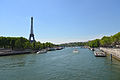 Eiffel Tower & Seine, Paris May 2014.jpg