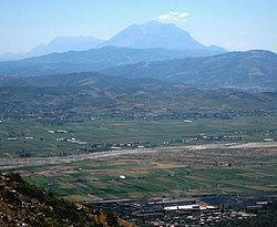 Mount Tomorr in Central Albania as seen from the North