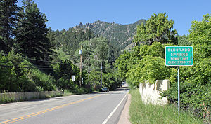 Eldorado Springs, Colorado - Eldorado Springs in 2014.