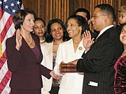Pelosi swears in Rep. Keith Ellison of Minnesota for the 110th Congress