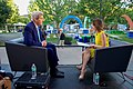 Emily Chang of Bloomberg West Interviews Secretary Kerry at the Beginning of the Global Entrepreneurship Summit in Palo Alto (27247883763).jpg