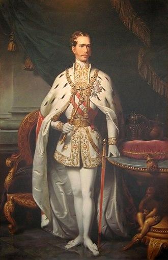 Mantle (royal garment) - Image: Emperor Franz Joseph I of Austria Sept. 2006 001