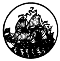 Engraving of the pirate trading vessel 'Nassau' captained by Giles Shelley.png