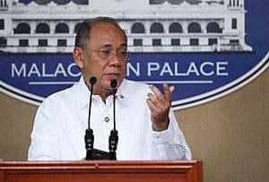 Ernesto Abella - Image: Ernesto Abella, Malacanang Press Conference