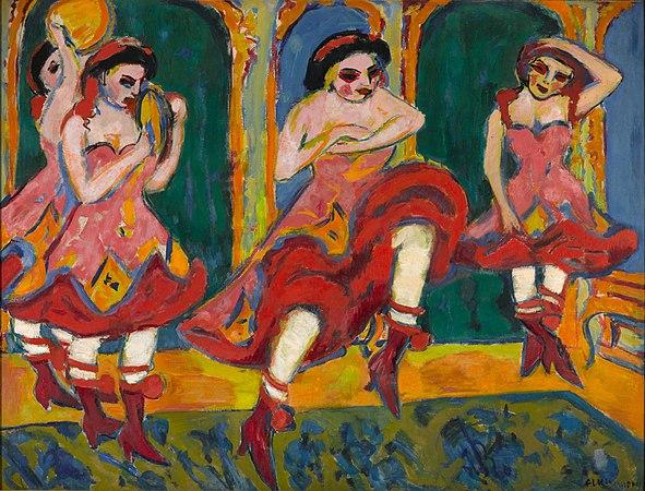 Ernst Ludwig Kirchner - Czardas dancers - Google Art Project.jpg