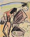 Ernst Ludwig Kirchner Weiblicher Akt am Strand von Fehmarn 1914.jpg