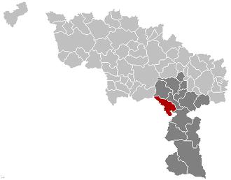 Erquelinnes - Image: Erquelinnes Hainaut Belgium Map