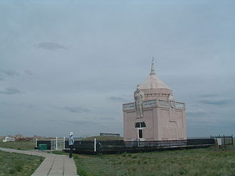 Aktobe - The Mausoleum of Kazakh War-leader Eset Batyr, outside Aktobe