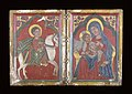 Ethiopian - Diptych Icon with Saint George, and Mary and the Infant Christ - Walters 3616 - Open.jpg