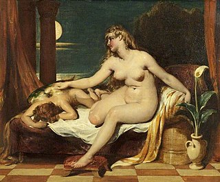 <i>The Dawn of Love</i> (painting) Oil painting on canvas by English artist William Etty