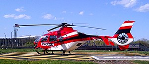 Eurocopter EC135 - Superior Ambulance's EC135 at Rush University Medical Center