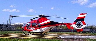 Eurocopter EC135 - Superior Ambulance's EC135 at Rush University Medical Center