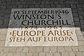 Europe Arise Plaque, Winston Churchill.jpg