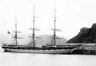 Star of India (ship) - Euterpe at Port Chalmers, the port of Dunedin, in 1883