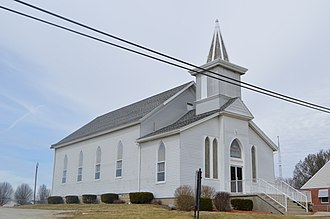 Jackson Township, Fayette County, Indiana - Church in Everton