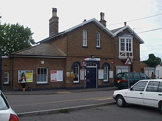 Ewell West railway station - Station building