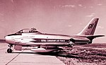 Ex-RCAF Golden Hawk Canadair F-86 23424 purchased by Lynn Garrison for his collection, July 1964.jpg