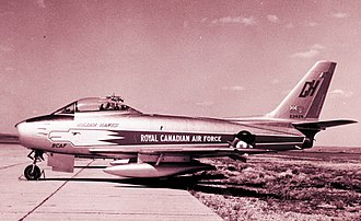 Canadair Sabre - 23424 one of 2 ex-Golden Hawk Sabres purchased by Lynn Garrison in July, 1964