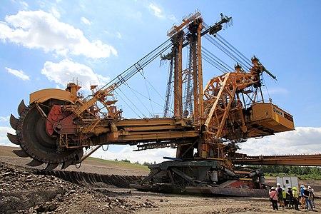 Excavator KU 800 for lignite mining, Lom ČSA, Czech Republic