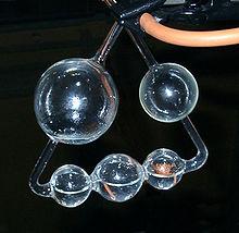 Fünf-Kugel-Apparat (moderner Nachbau) (Quelle: Wikimedia)