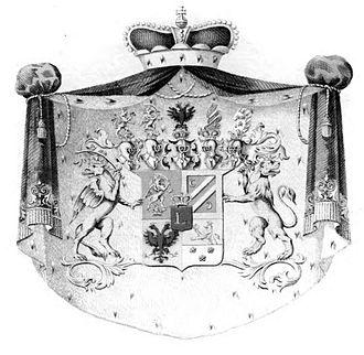 Esterházy - The Eszterházy arms, from 1852