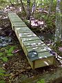 FLT M18 11.6 mi - Puncheon, 16' long, 1x8x18 deck boards, two 2x8 stringers sitting atop 4x4 posts - panoramio.jpg
