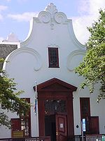 Una casa in stile Cape Dutch, Stellenbosch