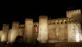 Zaragoza - Aljafería Palace, built in the 11th century.