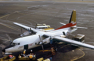 Hughes Airwest - Air West Fairchild F-27A in 1970 at San Francisco International Airport
