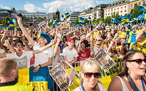 UEFA European Under-21 Championship - Fans of Sweden national under-21 football team, 1 July 2015