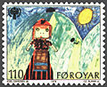 Faroe stamp 039 childrens year (girl in costume).jpg
