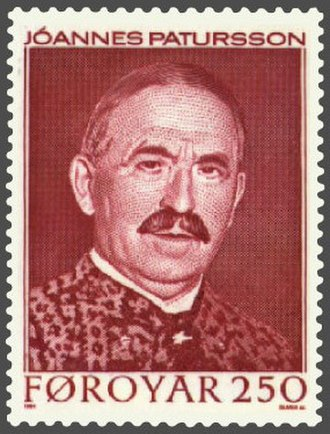Jóannes Patursson - Jóannes Patursson featured on Faroe Islands postal stamp (1984)