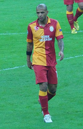 Felipe Melo met Galatasaray in 2013.