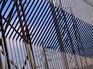 fence of a substation