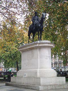 Equestrian statue of Ferdinand Foch, London statue by Georges Malissard in London, England
