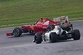Fernando Alonso and Sergio Perez after the race finish 2012 Malaysia.jpg