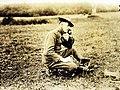 Field Telephone and Operator, receiving orders to resume firing, WWI (32916862546).jpg