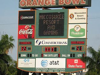 Miami Orange Bowl - Final game at the Orange Bowl