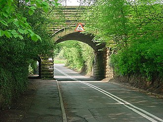 A448 road - The former A448 in Finstall
