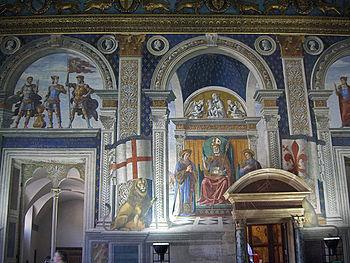 """Apotheosis of St. Zenobius"" in the Palazzo Vecchio, Florence."