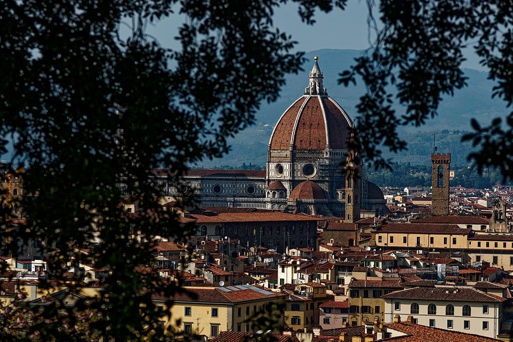 Firenze, Giardino Bardini - Vista nord verso il Duomo