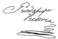 Cursive signature in ink