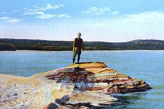 Fishing Cone - Image: Fishing Cone Postcard Asahel Curtis 1928