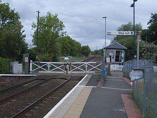 Fiskerton railway station Railway station in Nottinghamshire, England