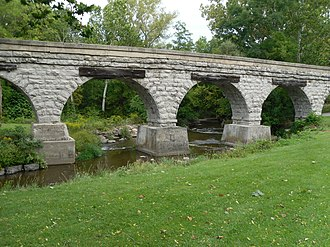 National Register of Historic Places listings in Livingston County, New York - Image: Five Arch Bridge Avon, New York (5170953402)