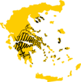 Flag map of Greece (Greek Orthodox Church).png