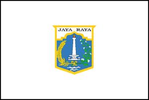 Flag of Jakarta (Indonesia)