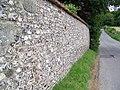 Flint wall, West Winterslow - geograph.org.uk - 889238.jpg