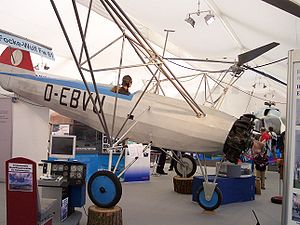 Focke-Wulf Fw 61 - A replica of Fw 61, ILA 2006 at the Hubschraubermuseum in Bückeburg