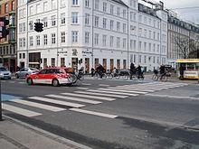 Attraversamento pedonale a Copenaghen